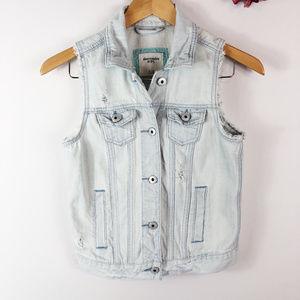[ABERCROMBIE KIDS] Light Wash Denim Vest